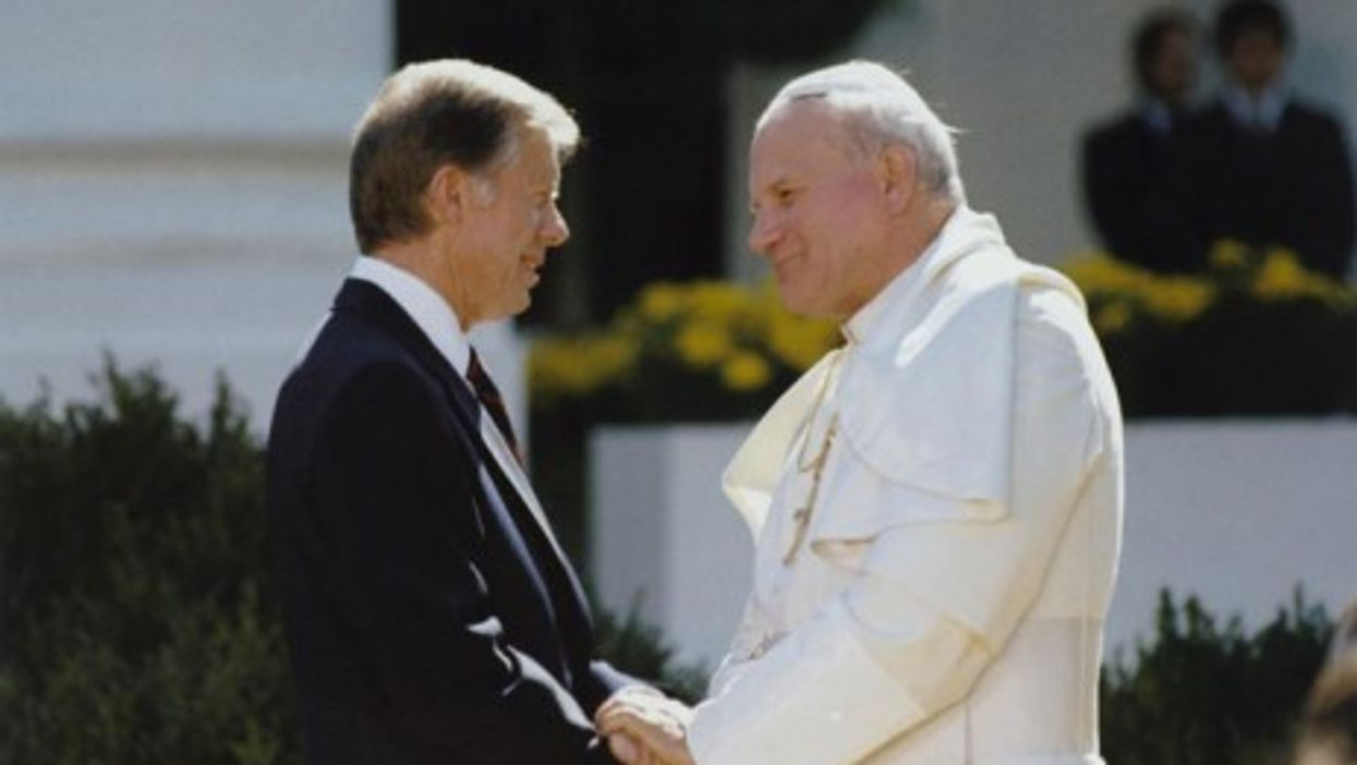 John Paul II and Jimmy Carter in another era (Marion Doss)