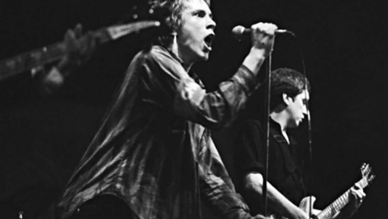 Johnny Rotten with the Sex Pistols in 1977