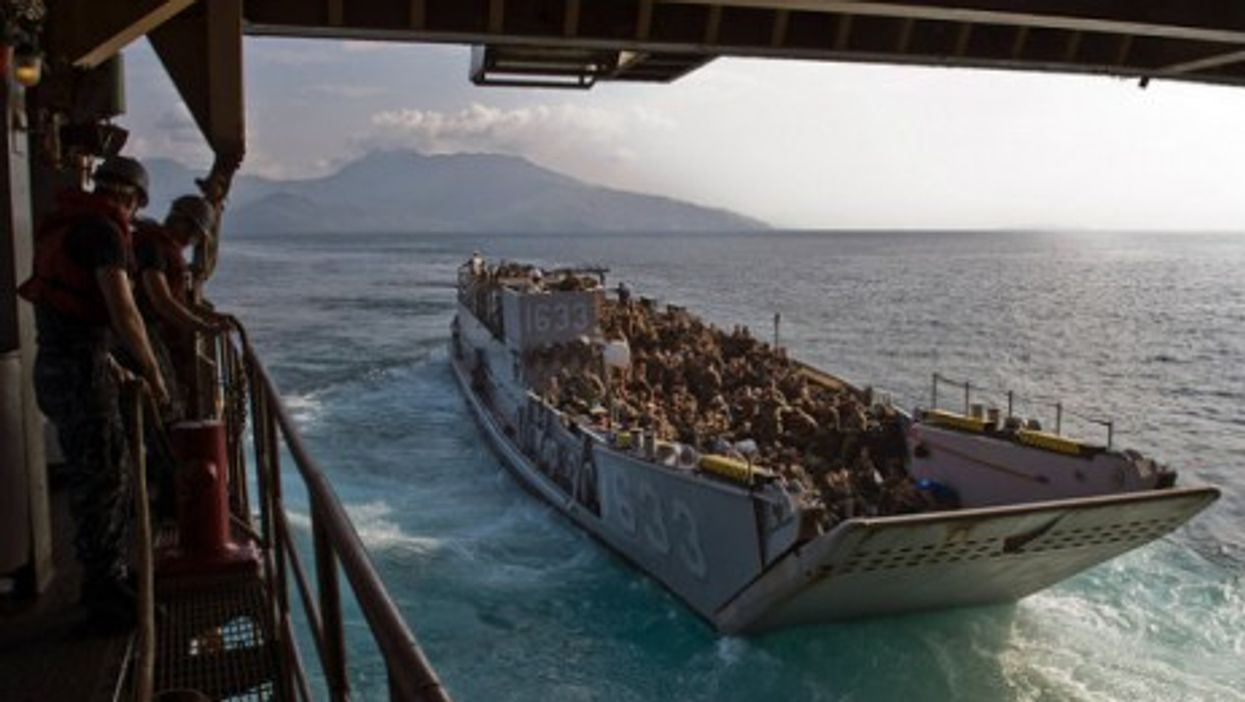Joint military exercises in the South China Sea