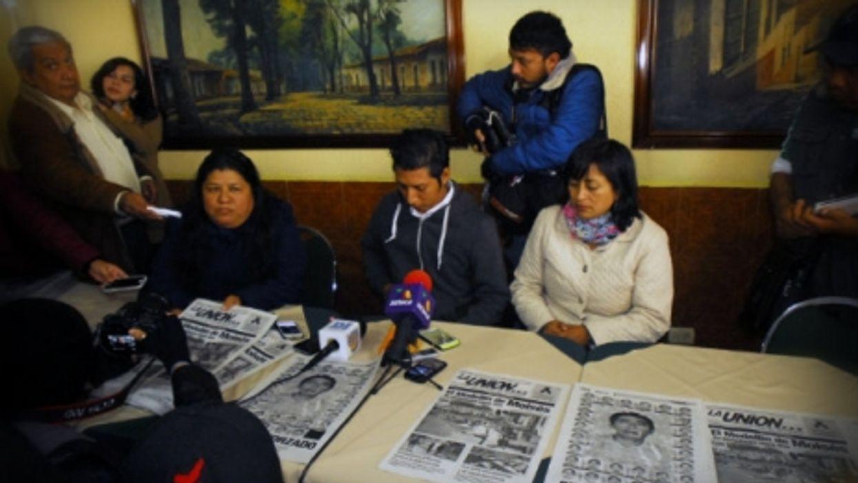 Jorge Sanchez, son of slain journalist Moises Sanchez, director of the newspaper La Union