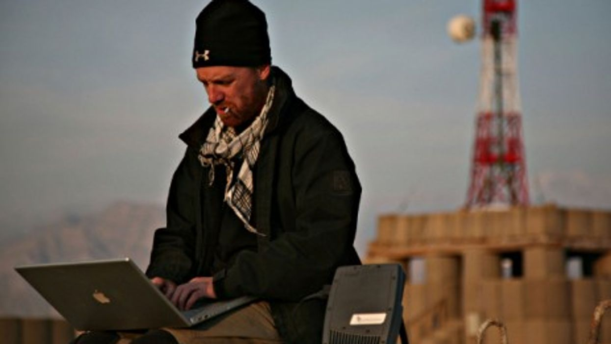 Journalist and photographer Jeremy Kelly files pictures from Surobi, eastern Afghanistan, in December 2009.