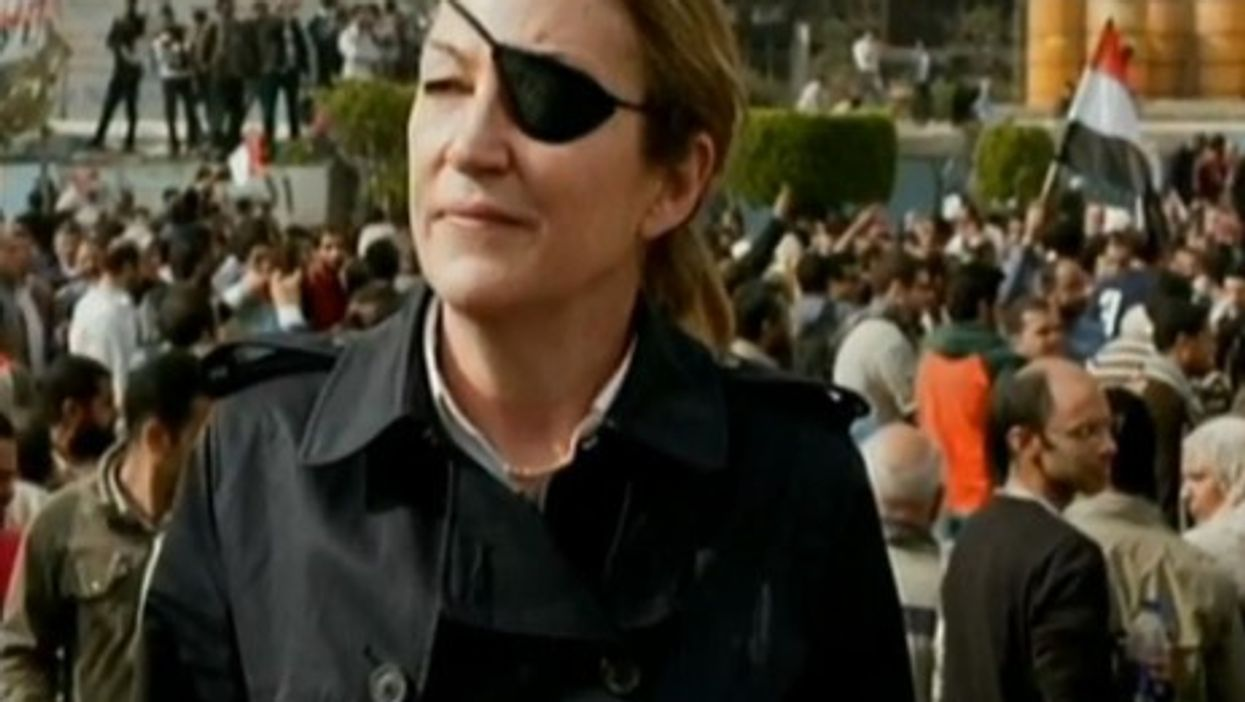 Journalist Marie Colvin was killed Feb. 22 while reporting in Syria (YouTube)