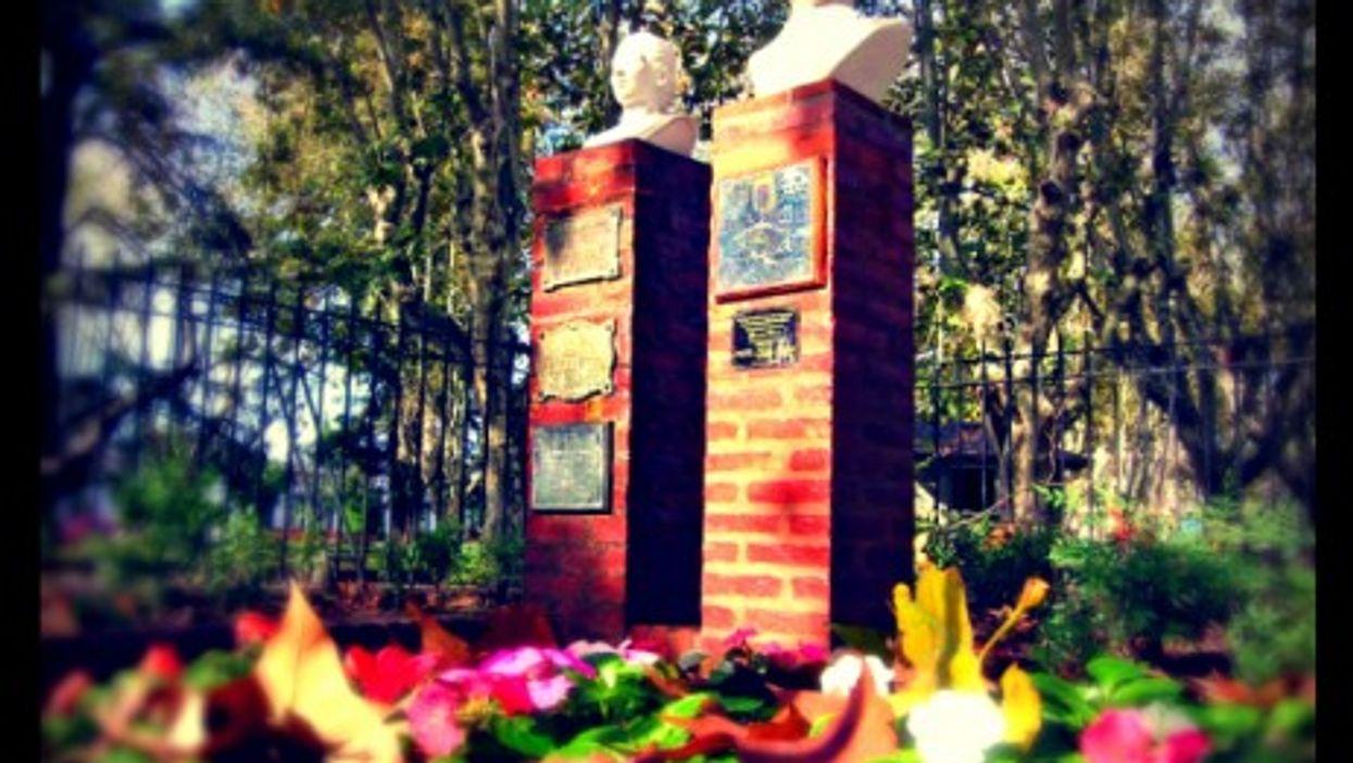 Juan Domingo and Eva Peron memorial in Buenos Aires