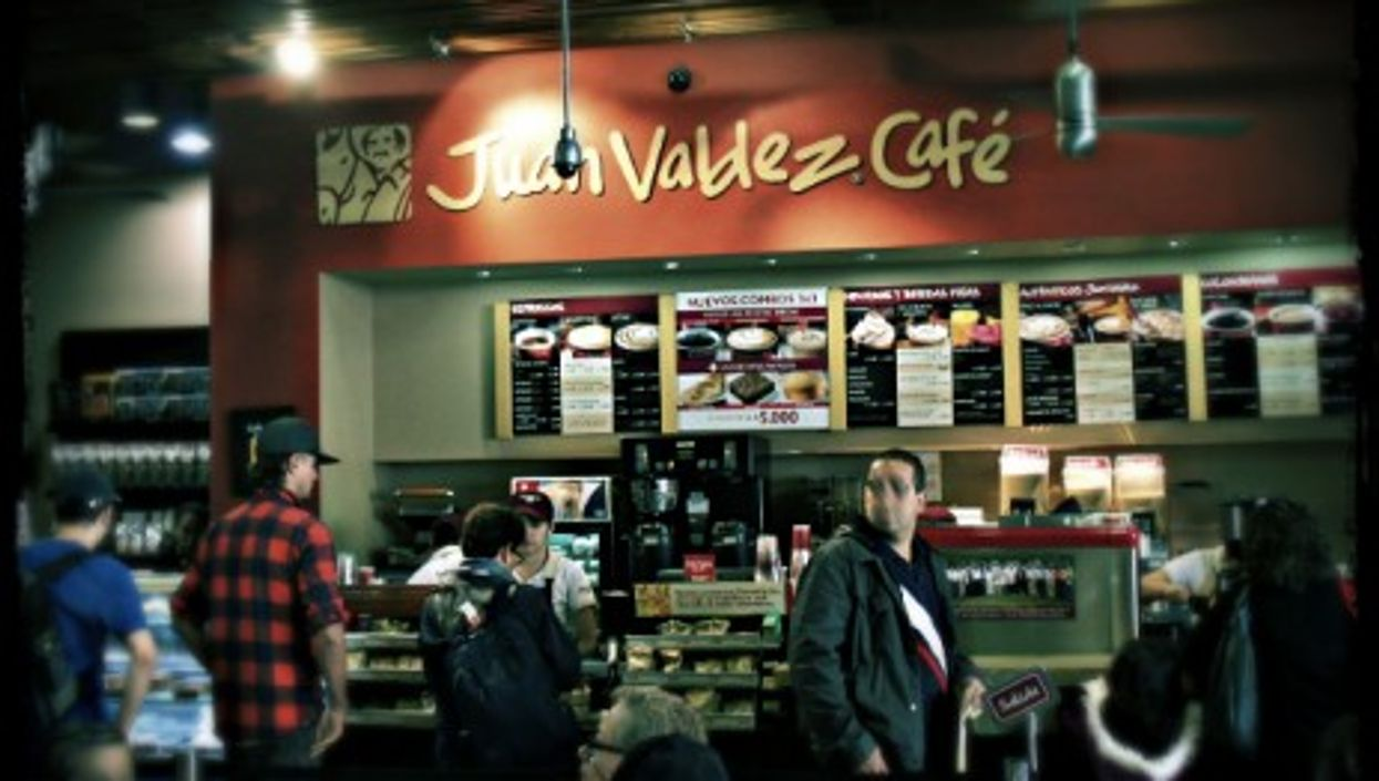 Juan Valdez coffee store in Bogota