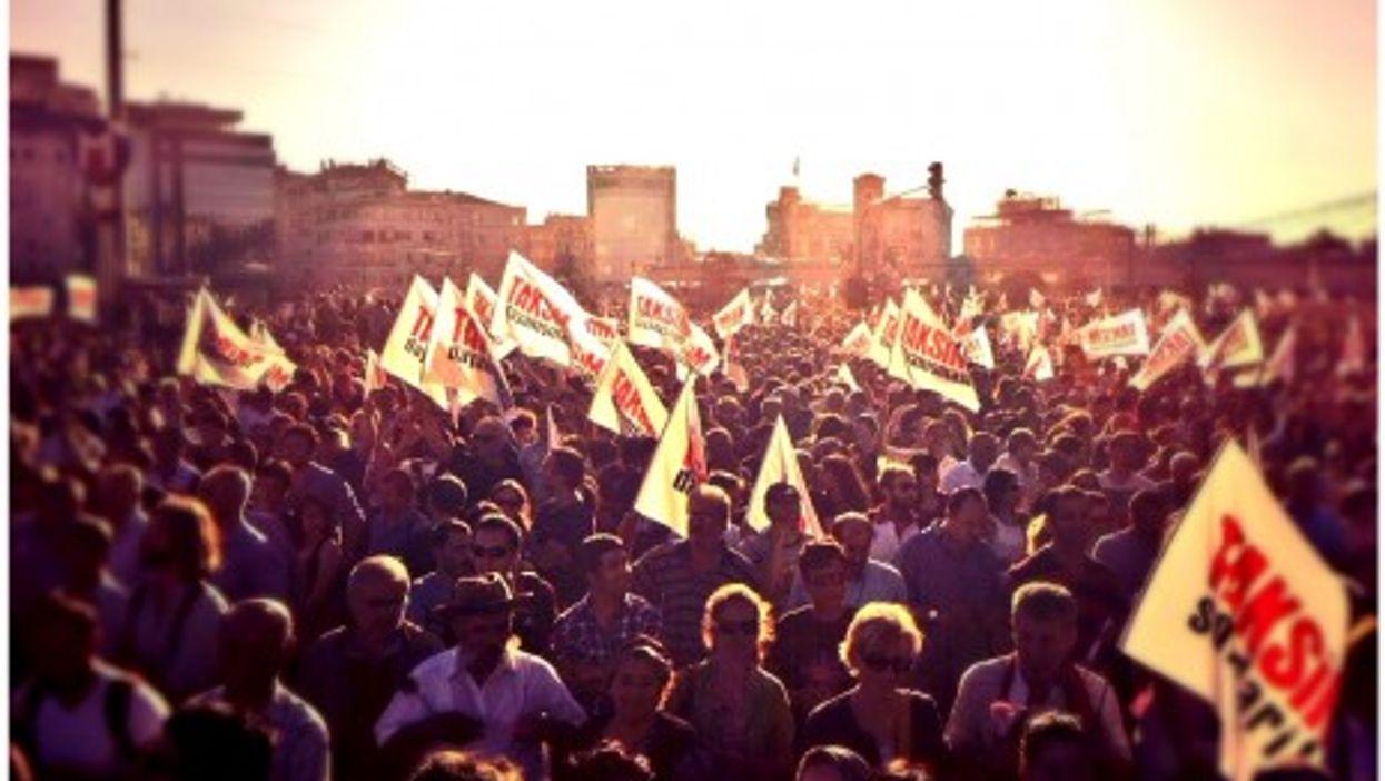 June 22 protests in Istanbul's Taksim Square