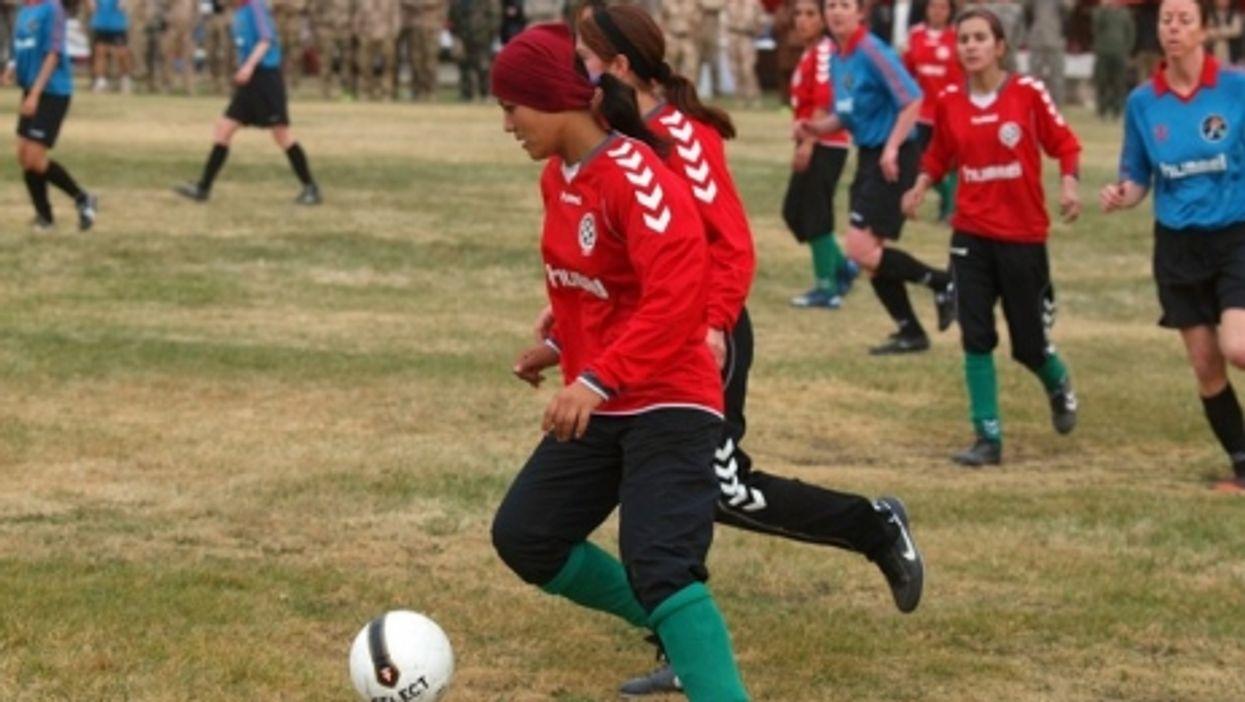 Kabul, Afghanistan, Oct. 29, 2010  —  Afghanistan's national women's soccer team