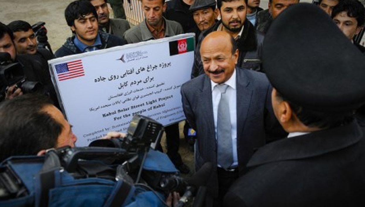 Kabul Mayor Muhammad Yunus Nawandish before the Solar Street Light Project (isafmedia)