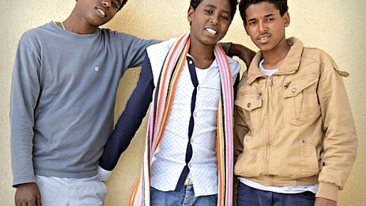 Kalab, Jon and Simon, young Eritrean migrants