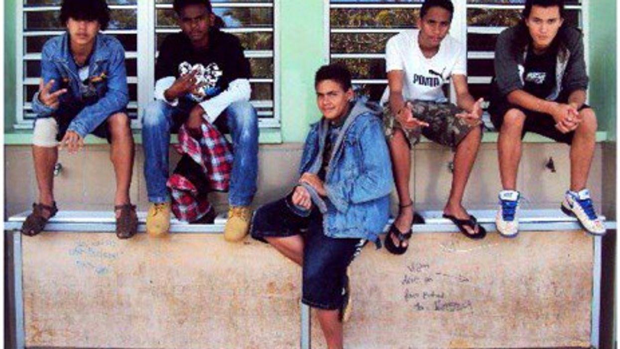 Kanaki teenagers in New Caledonia