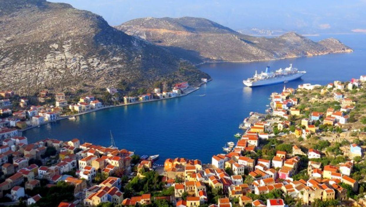 Kastellorizo is just a mile off Turkey's coast