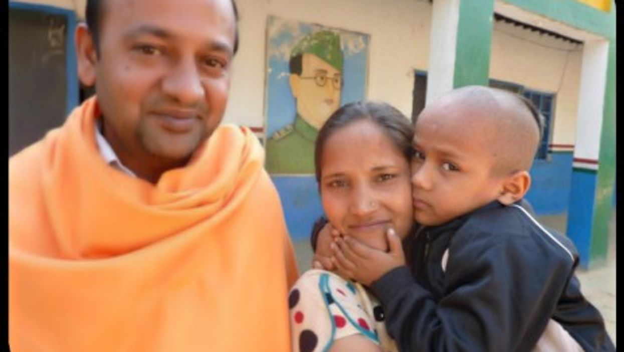 """Kautilya Pandit, a.k.a. """"Google Boy,"""" with his mother and father."""