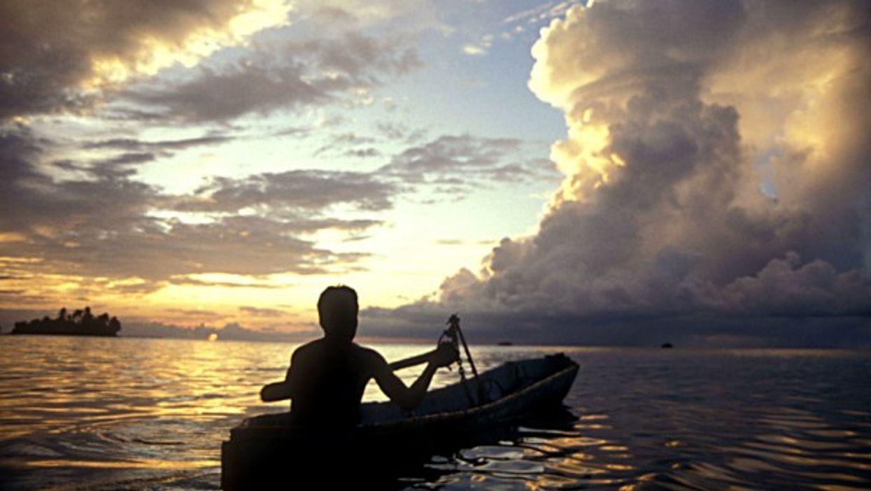 Kayaking in Utila, Honduras