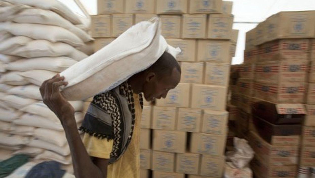 Keeping the stock moving in Ethiopia's Kobe refugee camp (Giro555SHO)