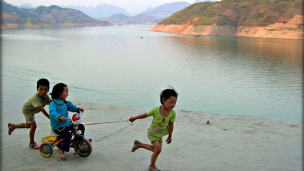 Kids playing in Guizhou in southwestern China