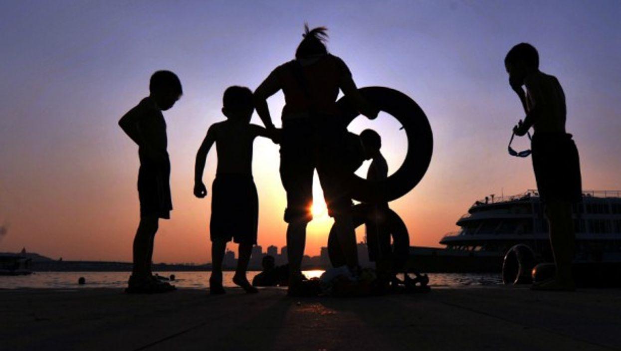 Kids playing in Hunan Province, China