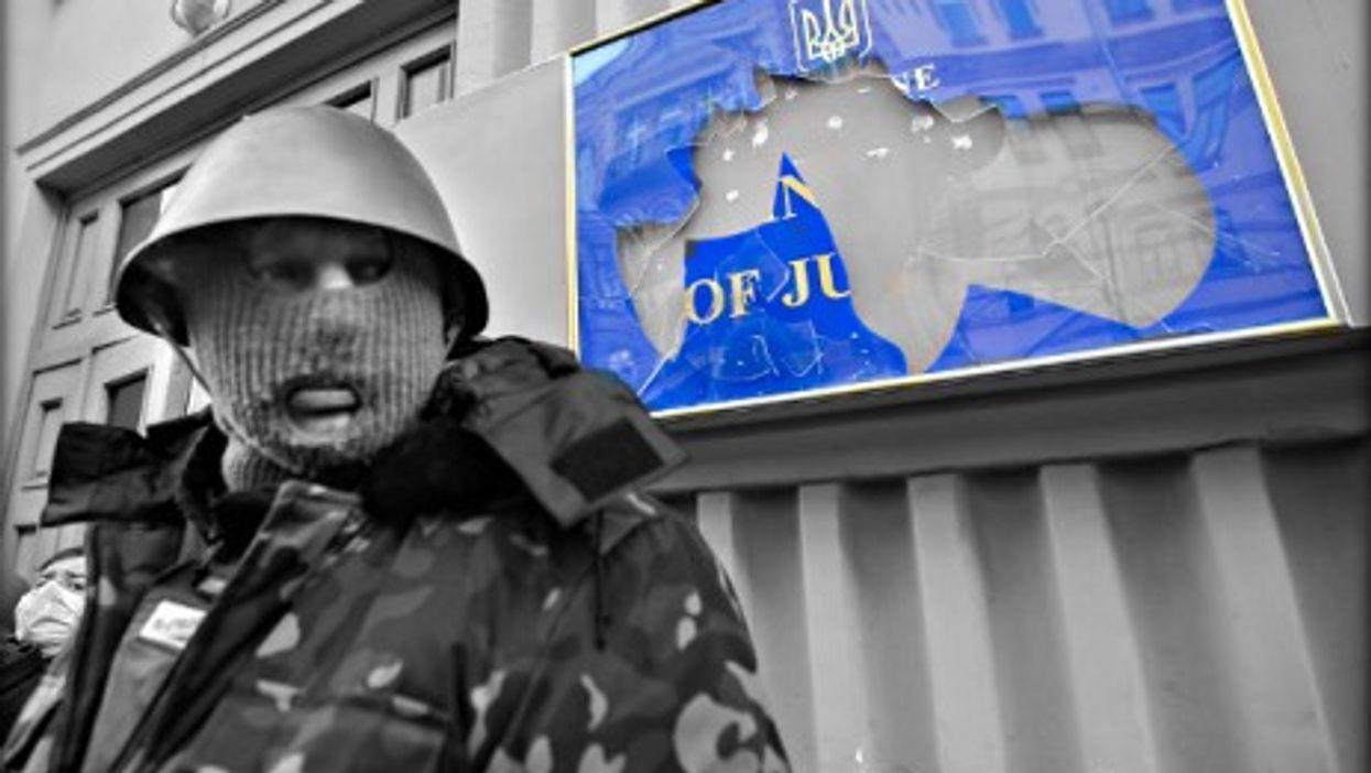 Kiev's Ministry of Justice in January 2014