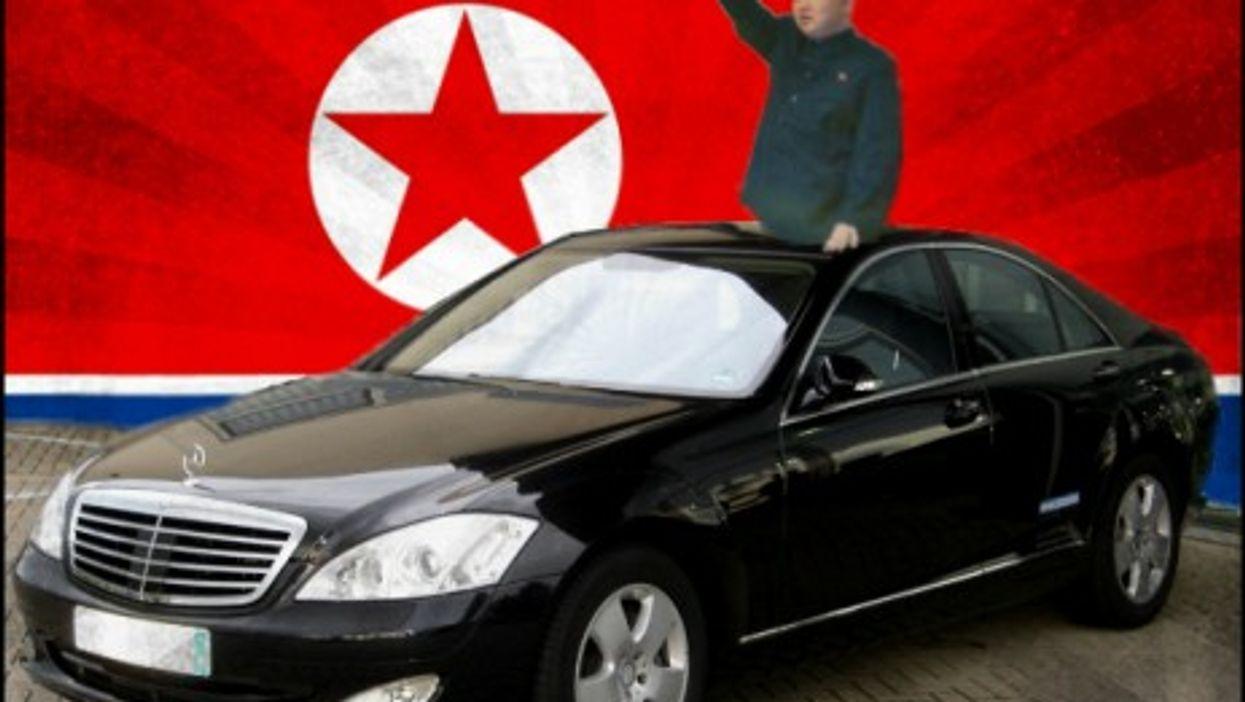 Kim Jong-un likes his German wheels...