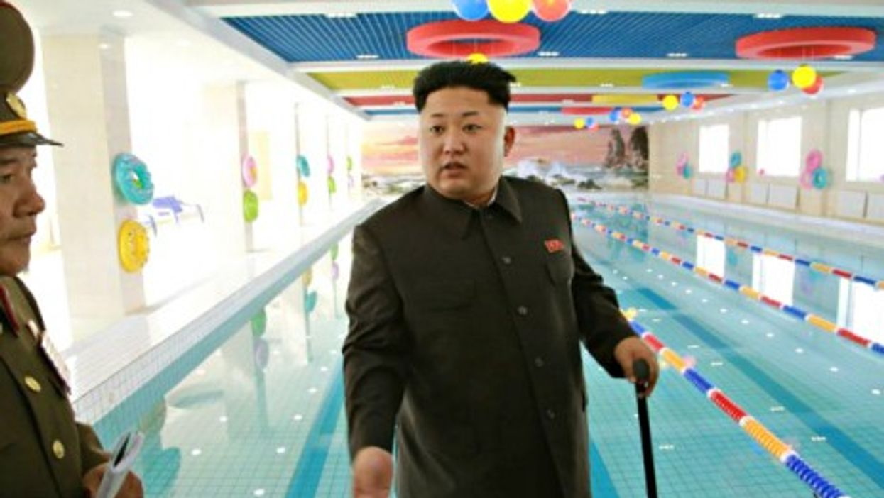 Kim Jong-un's first public appearance since Sept. 3.