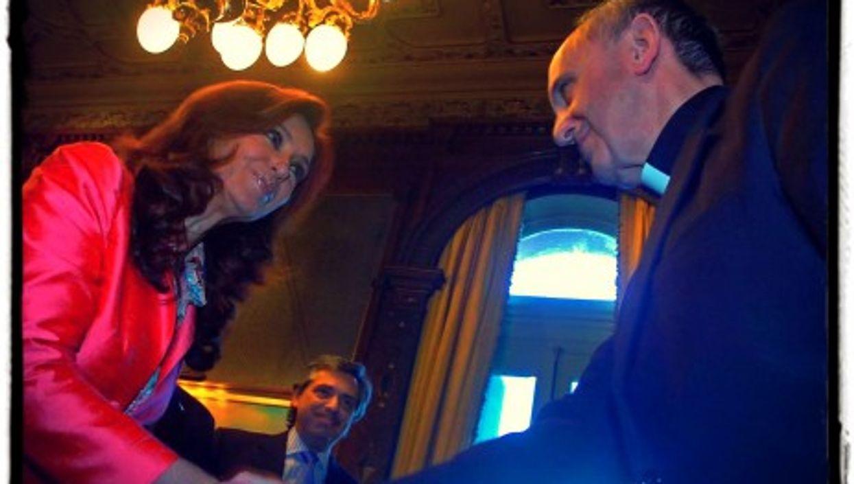 Kirchner and Bergoglio in 2007