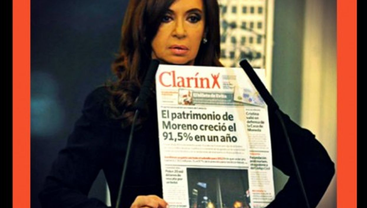 Kirchner's fight with Clarin dates from before she was elected president in 2007