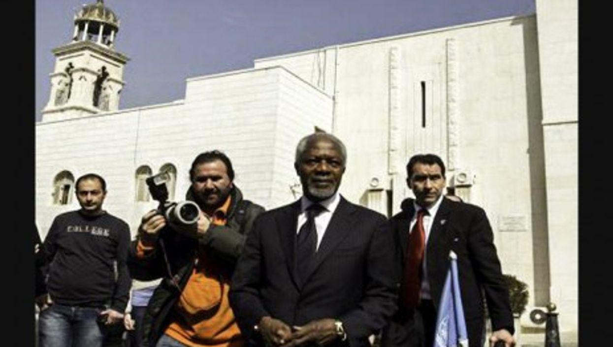 Kofi Annan during his trip to Syria in March (FreedomHouse2)