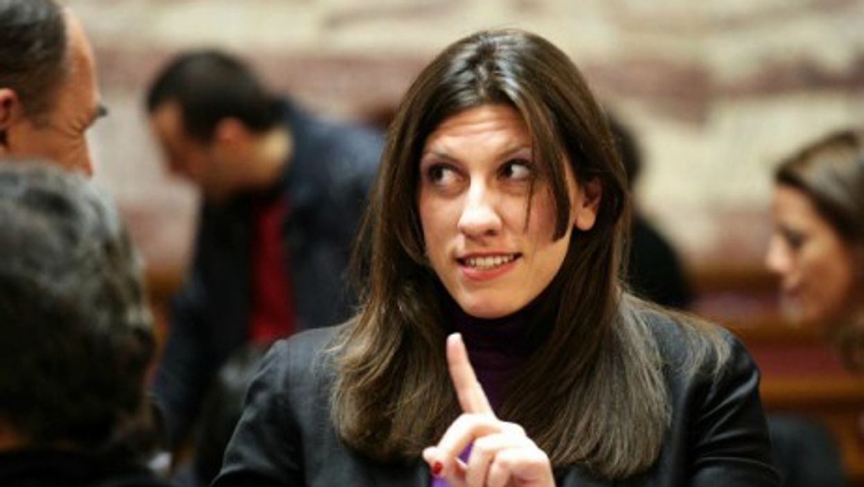 Konstantopoulou, Greece's youngest-ever speaker and only second woman in the post.