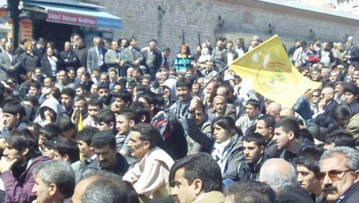 Kurdish protest in Istanbul, Turkey.