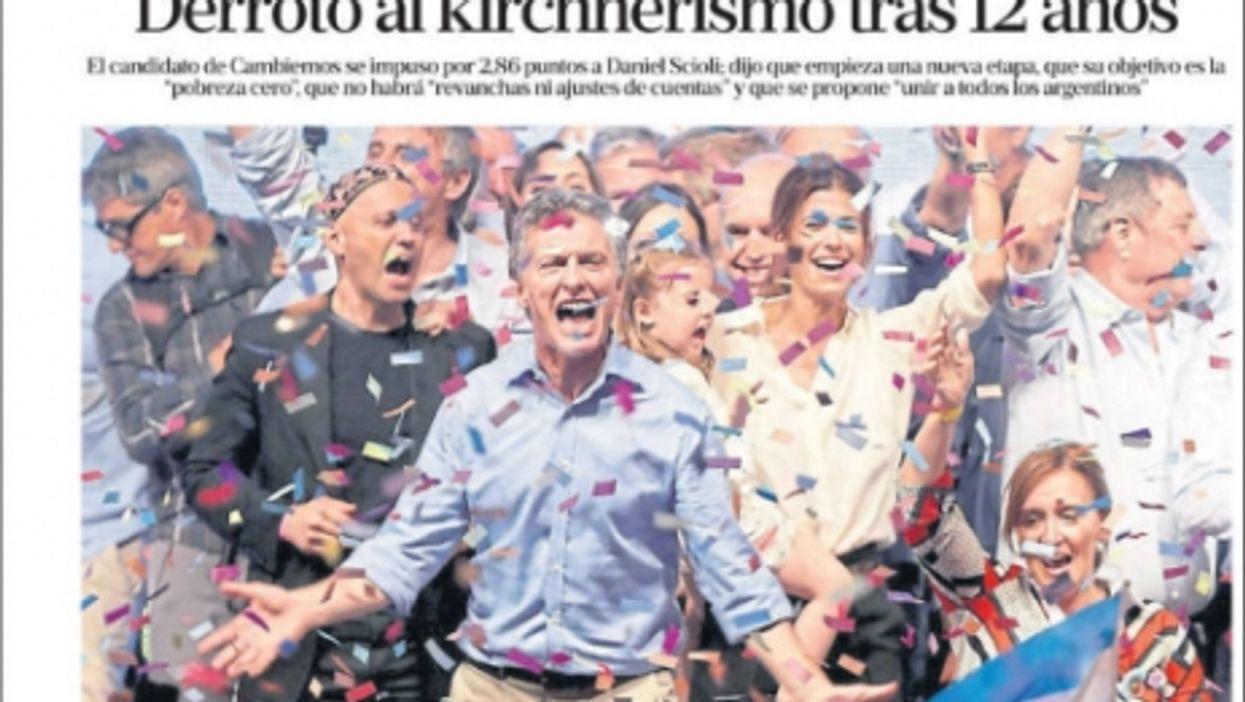 La Nacion, Nov. 23, 2015