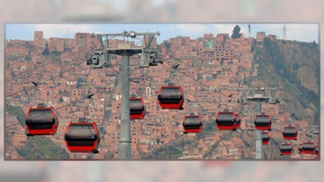 La Paz's aerial cable cars