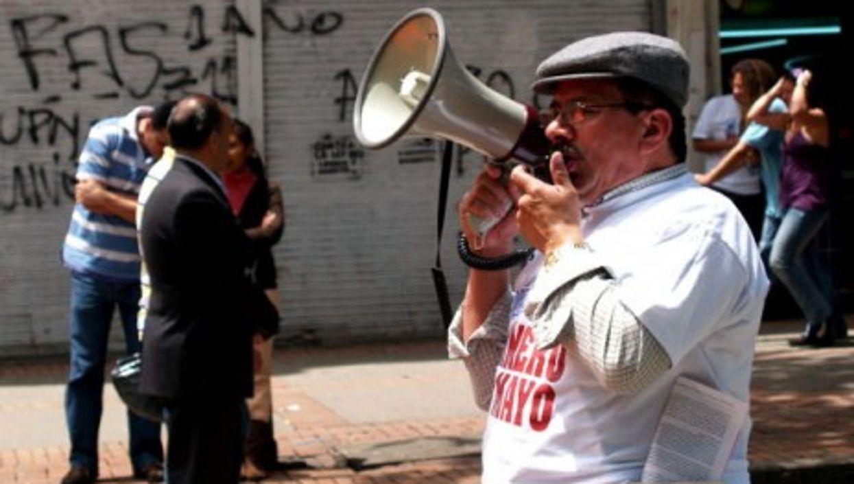 Labor protest in Colombia, where 49 union activists were killed in 2010. (El Turbión)