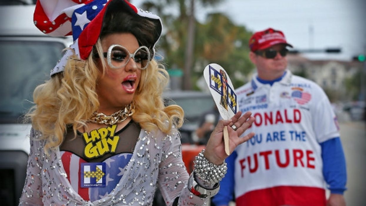 """""""Lady Guy,"""" a Hillary Clinton Supporter and a Donald Trump supporter in Florida"""