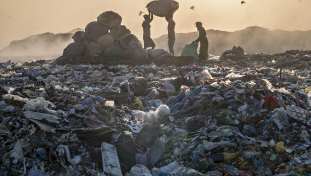 Landfill in Sylhet, Bangladesh