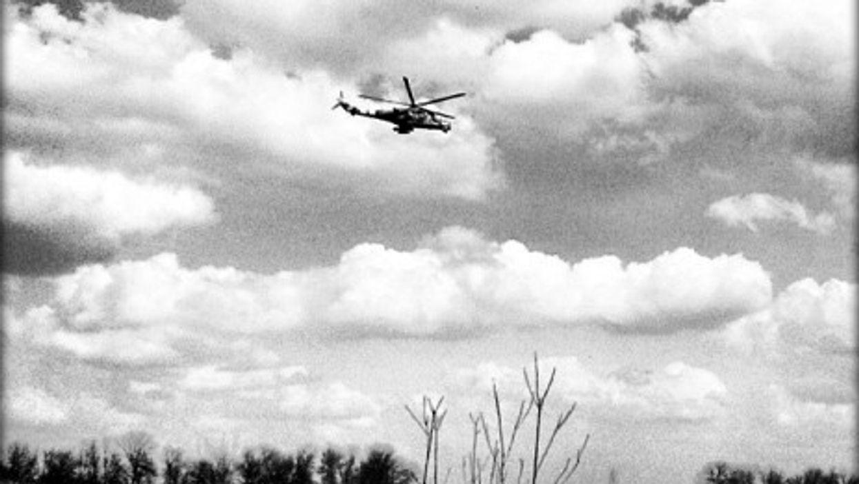 Landing in Kramatorsk airport