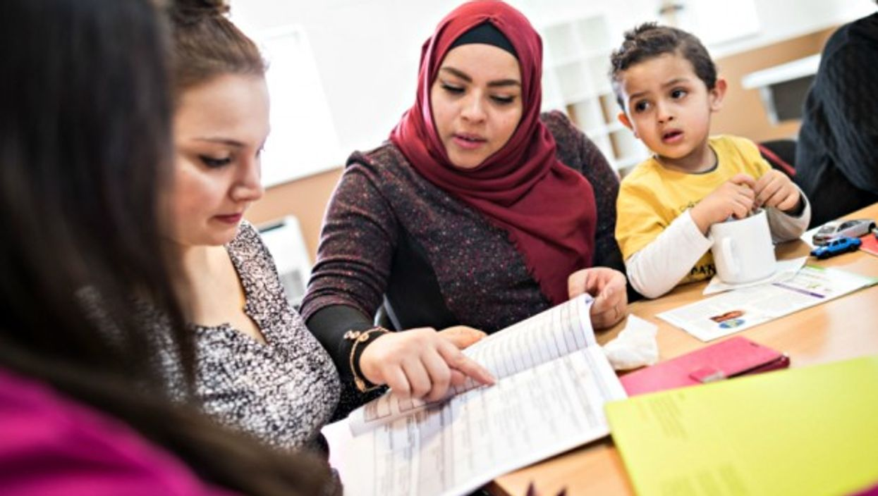 Language courses with migrants in Roedermark, Germany