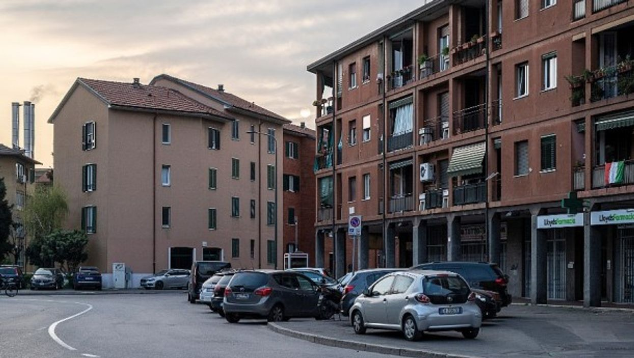 Last week, a neighborhood on the outskirts of Milan is silent.