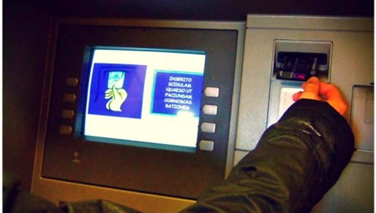 Latin is one of the languages for the ATM in the Vatican