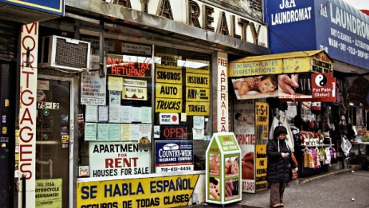 Latino neighborhood in Jackson Heights, Queens, NYC