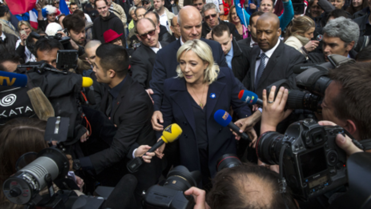 Leader of French far right party National Front, Marine Le Pen