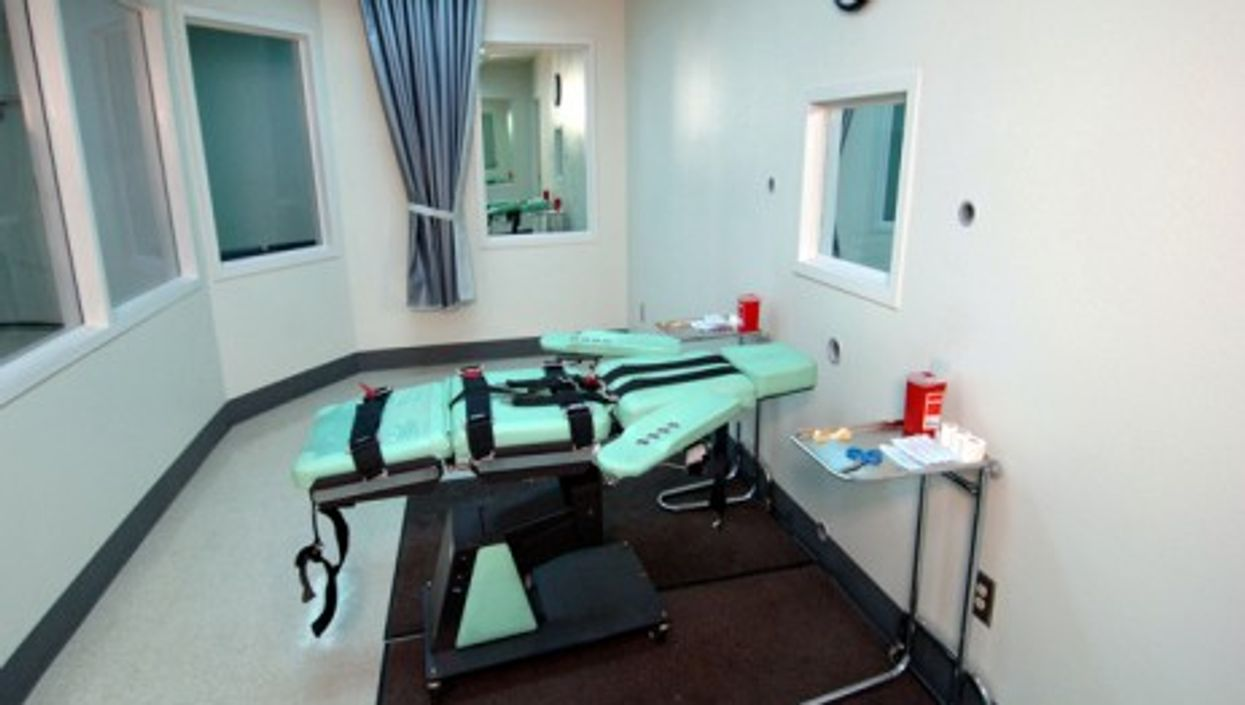Lethal injection room in California's San Quentin State Prison