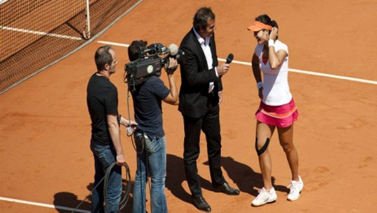 Li Na at last year's French Open (Frédéric de Villamil)