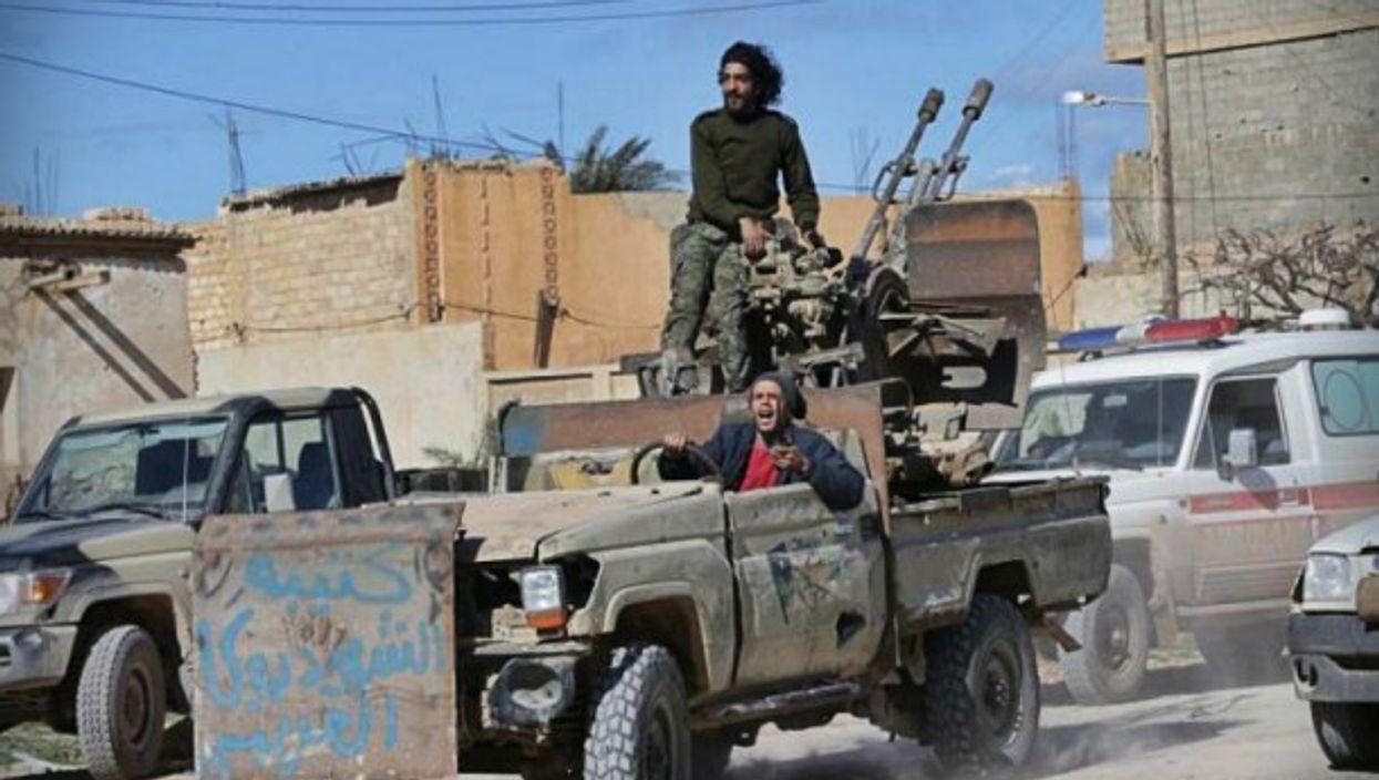 Libyan National Guard members in Tripoli