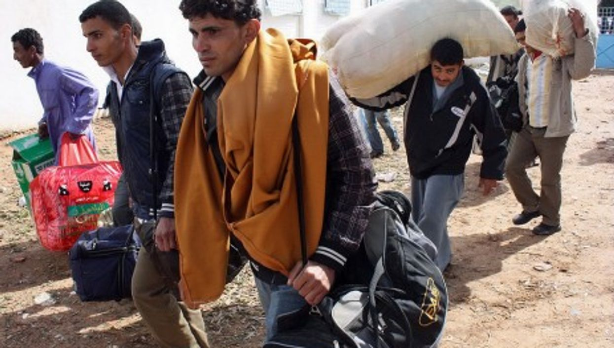 Libyan refugees are forced to flee