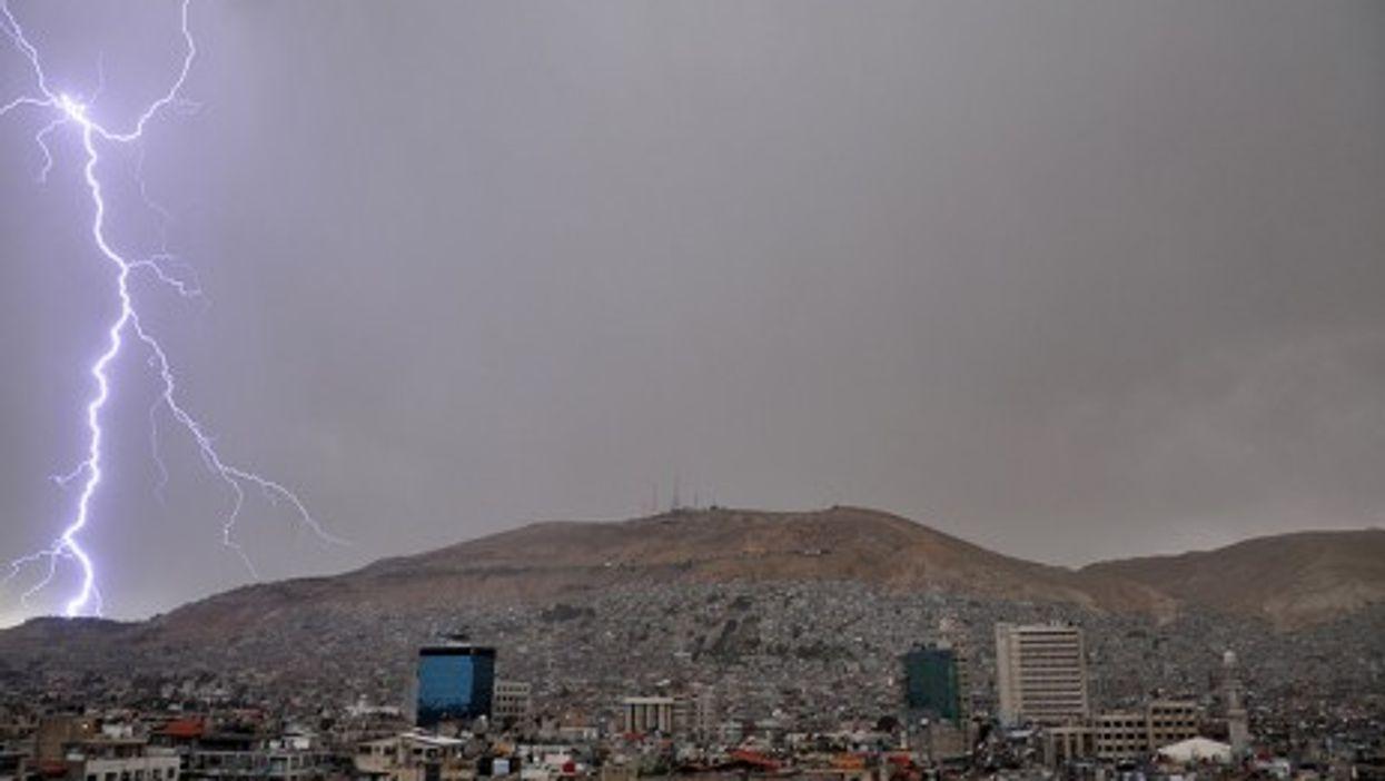 Lightning over Damascus