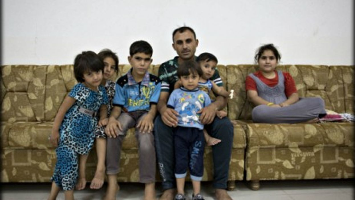 Like this family, thousands of residents have fled Iraq's second largest city Mosul.