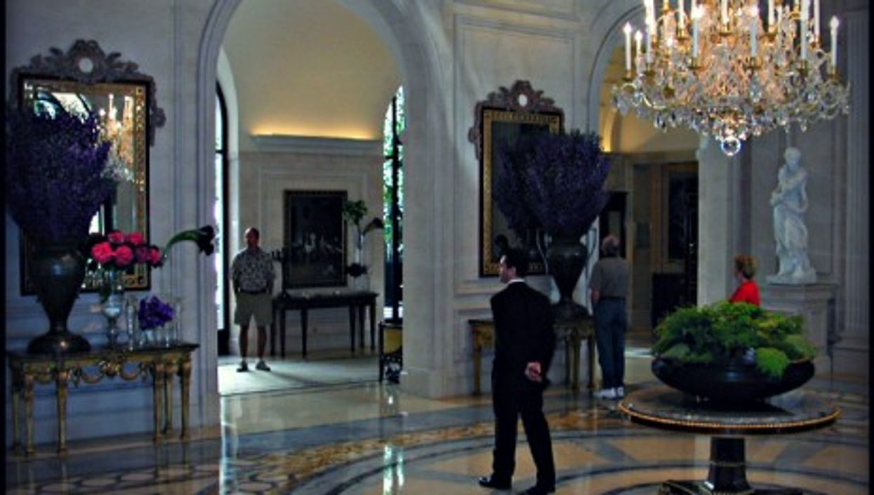 Lobby of the Four Seasons George V Hotel in Paris