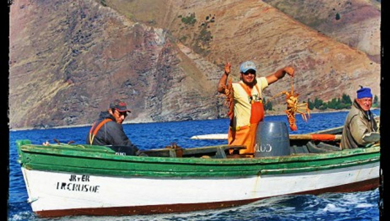 Lobster fishermen in the Juan Fernandez Archipelago, Chile