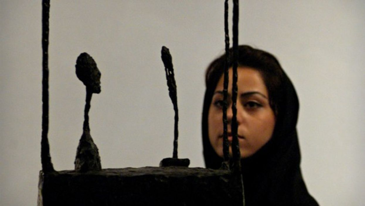 Looking at Giacometti 'In Cage' at Tehran's Museum of Contemporary Art