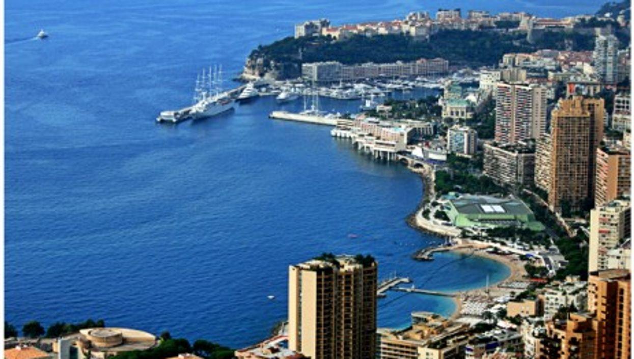 Looking down into Monte Carlo, Monaco