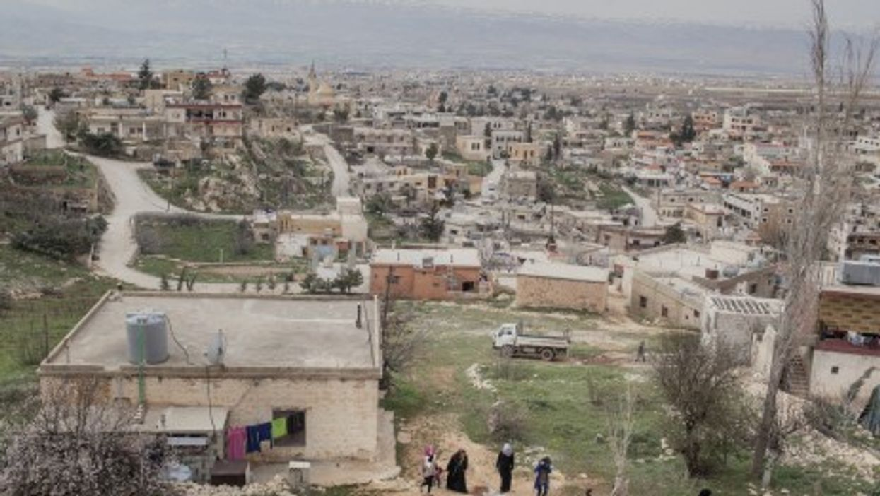 Looking down on the city of Britel, in the Bekaa Valley.