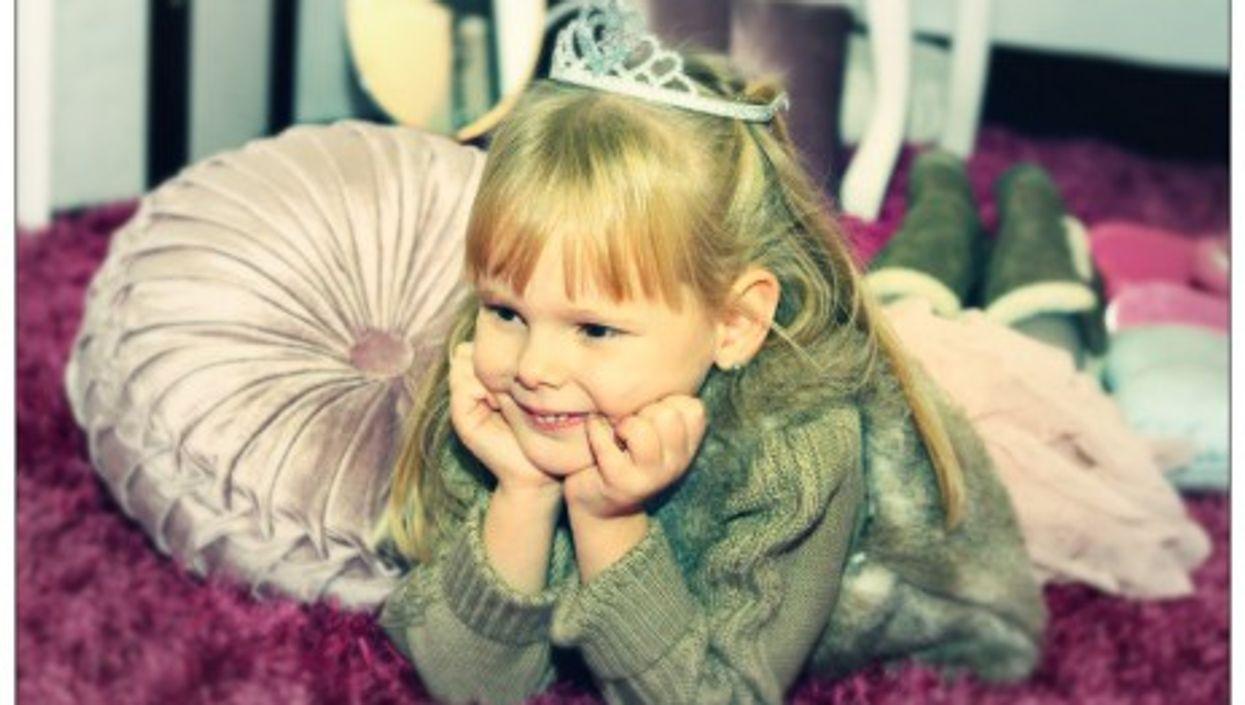 Looking princessy